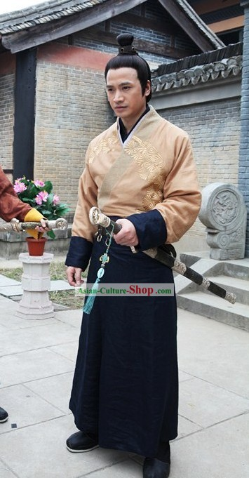 Tang Dynasty General Swordsman Costumes Complete Set