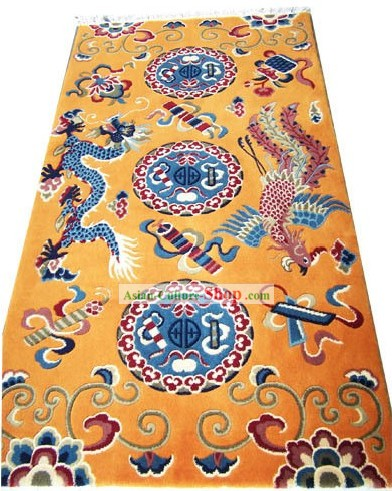 Tibetan Dragon and Phoenix Rug