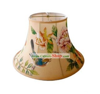 Traditional Chinese Hand Painted Silk Lampshade