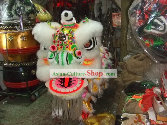Spring Festival Celebration LUMINOUS Competition and Performance Lion Dance Costume Complete Set