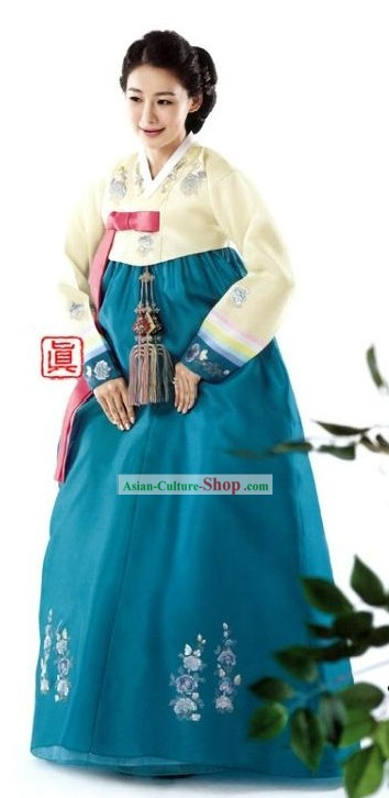 Traditional Korean Hanbok Clothing Complete Set for Women