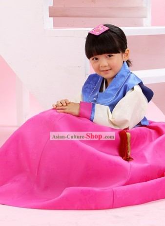Traditional Korean Ceremonial Birthday Hanbok for Girls