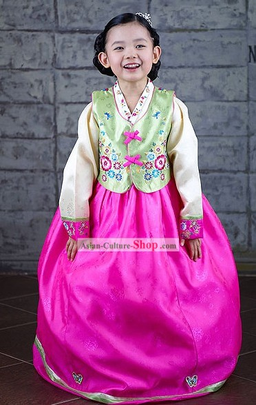 Traditional Korean Hanbok Suit for Girls