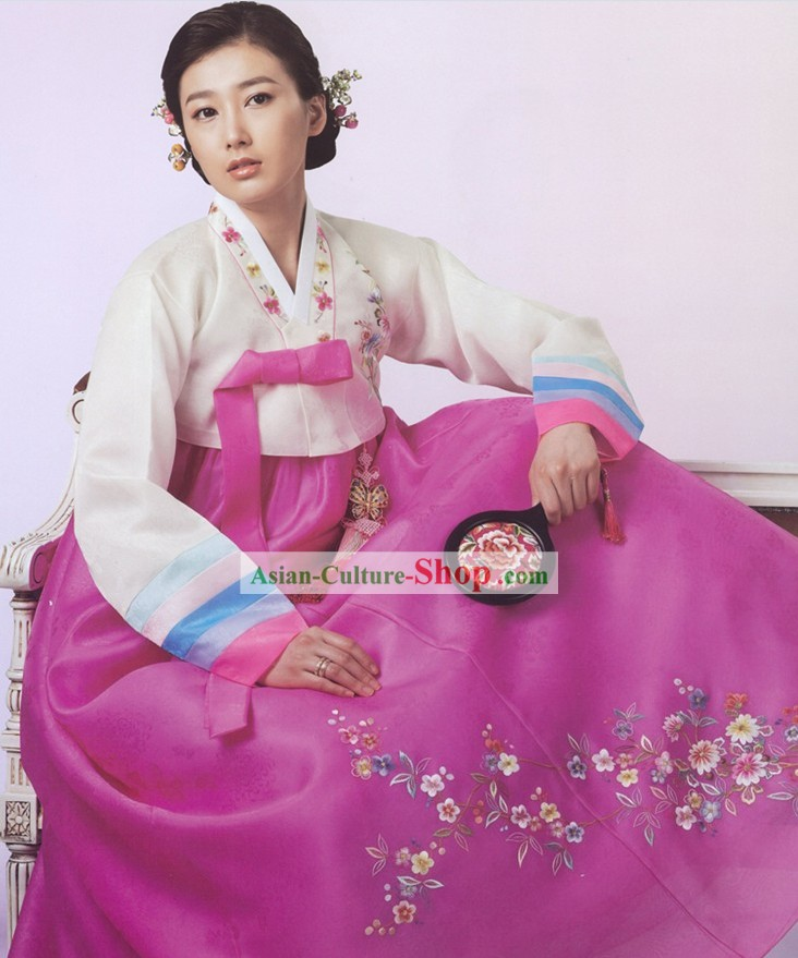 Traditional Korean Women Hanbok Suit