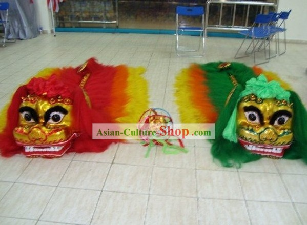Top Chinese Classic Beijing Lion Dance Costumes 2 Sets
