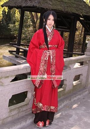 Ancient Chinese Women Wedding Dress Complete Set