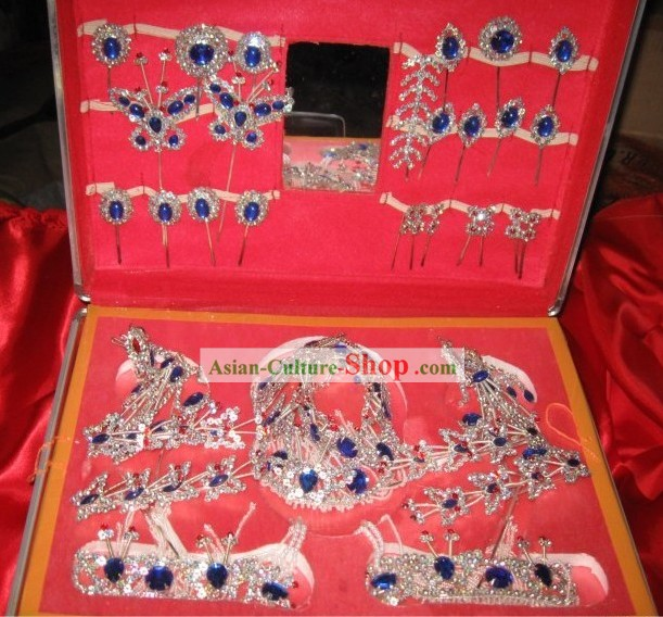 Traditional Chinese Opera Dan Qingyi Headpiece Set