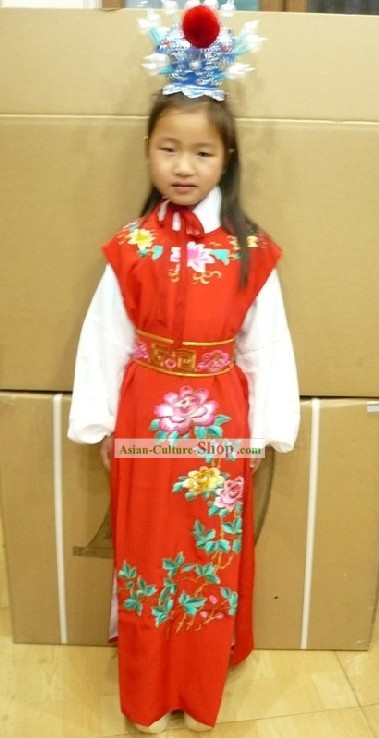Chinese Opera Dream of the Red Chamber Jia Baoyu Costumes Full Set for Children