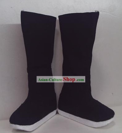 Chinese Black Hanfu Shoes Boots