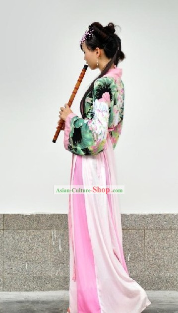 Chinese Hanfu Lotus Clothes Set for Women