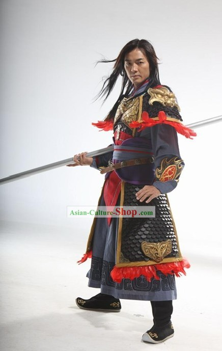 Ancient Chinese Zhao Zilong Armor Cosplay Costumes Full Set for Women
