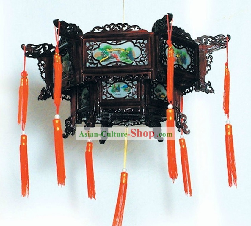 Traditional Chinese Ceiling Wooden Palace Lantern