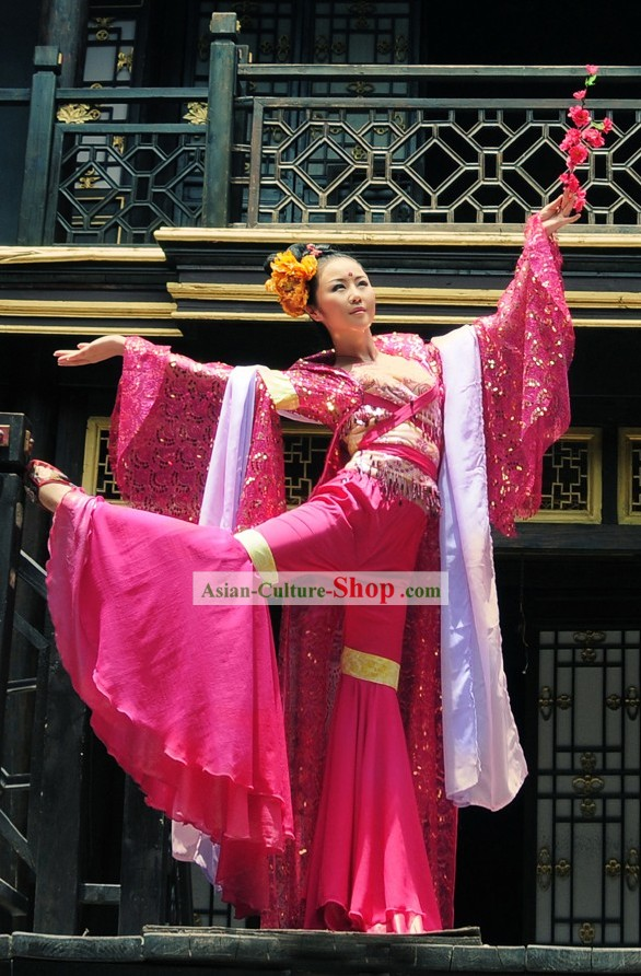 Ancient Chinese Beauty Dancer Costume Complete Set