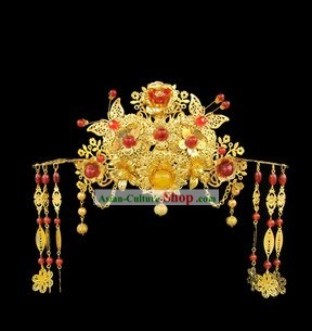 Ancient Chinese Wedding Headpiece Set