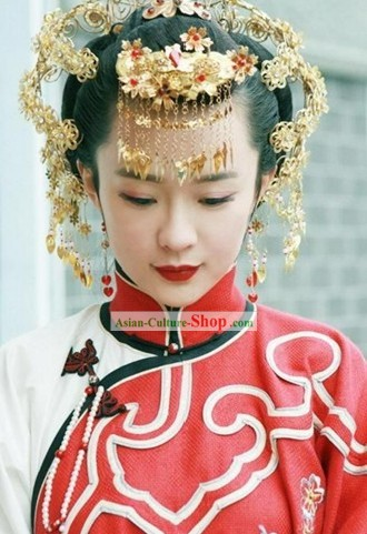 Ancient Chinese Beauty Wedding Headpiece Set