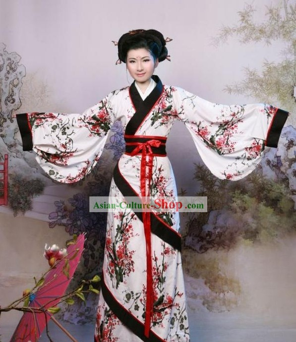 Traditional Chinese Gu Zhuang Han Fu Clothing for Women