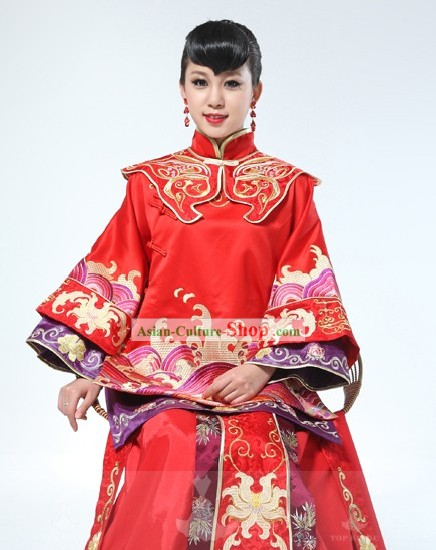 Traditional Chinese Wedding Dress Set for Women