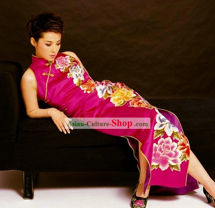 Traditional Chinese Wedding Cheongsam