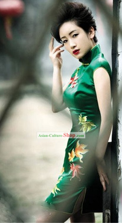 Custom Made Chinese Silk Qipao Cheongsam