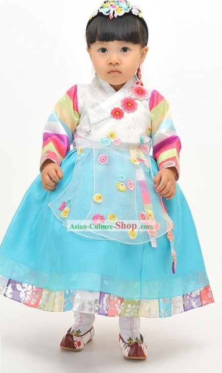 Traditional Korean Baby Girl Birthday Hanbok Clothing