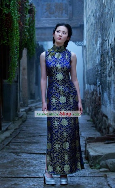 Chinese Classical Long Cheongsam