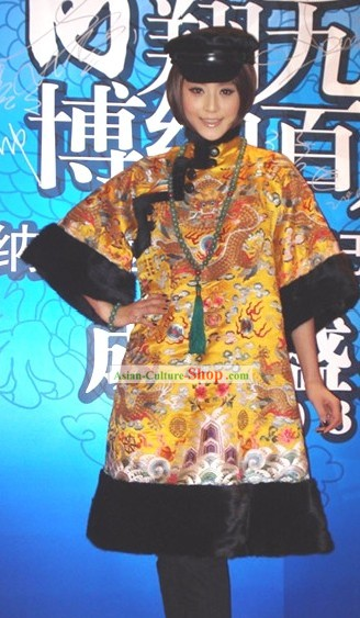 Traditional Chinese Dragon Long Jacket