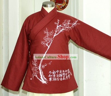 Chinese Hand Painted Cotton Jacket for Women