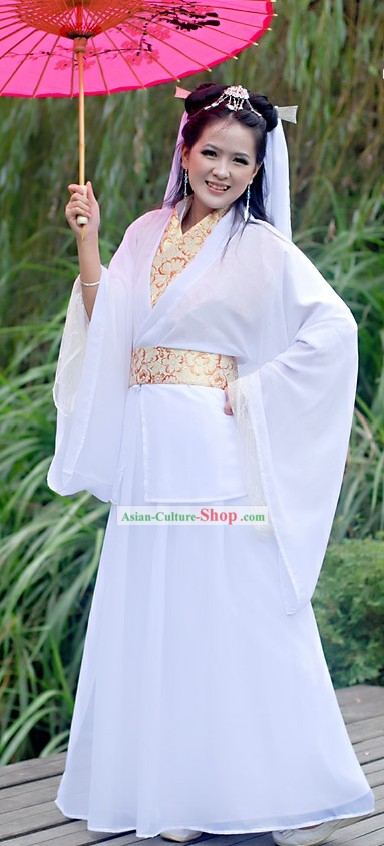 Chinese White Snake Fairy Beauty Costume for Women