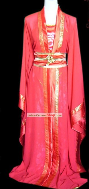Chinese Classical Red Hanfu Clothing for Women
