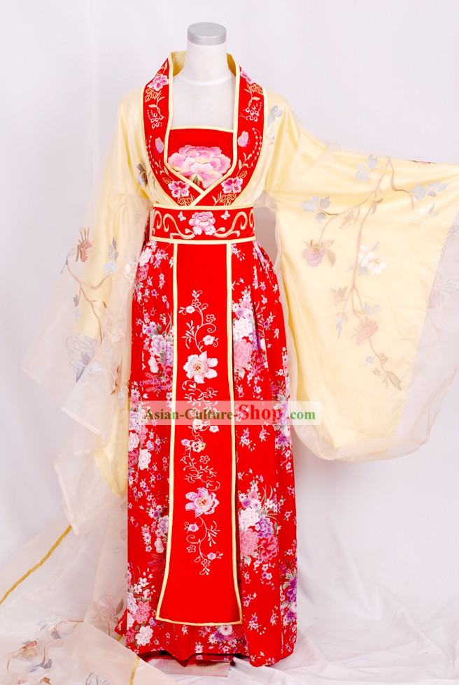 Tang Dynasty Empress Embroidered Clothing Complete Set