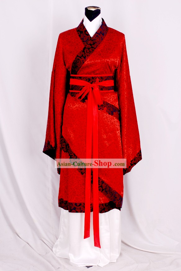 Ancient Han Dynasty Red Wedding Dress