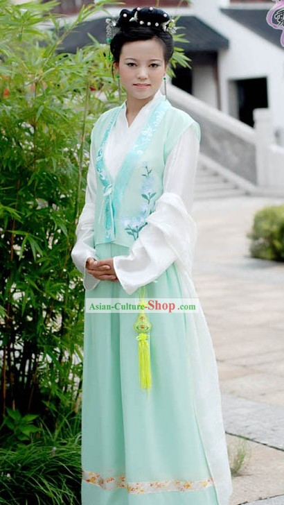 Chinese Light Green Han Fu for Women