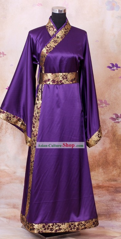 Han Chinese Clothing Purple Quju
