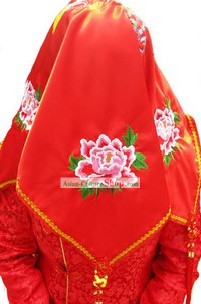 Traditional Chinese Silk Red Wedding Cloth