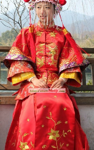 Chinese Classical Brides Wedding Dress Complete Set
