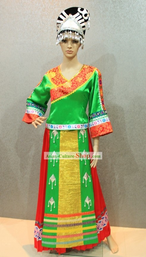 Chinese Miao Clothing and Hat for Women