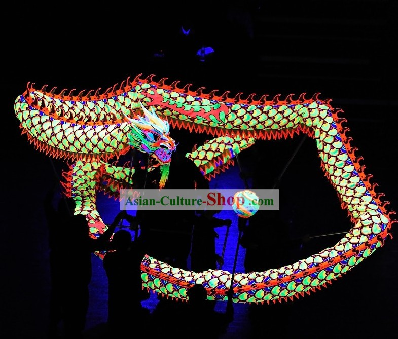 Supreme Luminous Fish Pattern Dragon Dance Equipment Complete Set