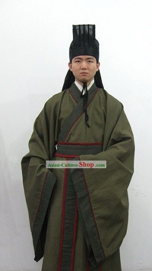 Ancient Chinese Men Clothing and Hat