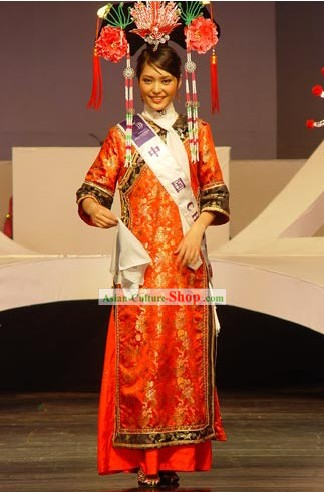 Traditional Chinese Beauty Peagant Contest Costumes