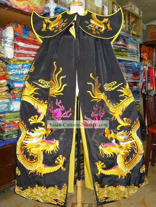 Chinese Ancient Emperor Embroidered Dragon Cape