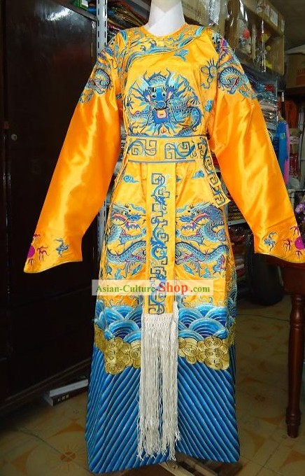 Peking Opera Emperor Embroidered Dragon Robe