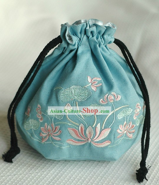 Traditional Chinese Hanfu Embroidered Purse