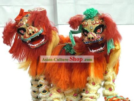 Chinese Classic Lion Dance Costumes 2 Complete Sets