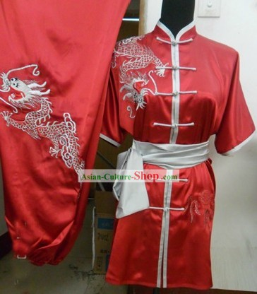 Chinese Silk Dragon Kung Fu Uniforms for Men