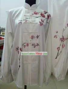 Chinese Winter Plum Blossom Silk Kung Fu Clothes Set