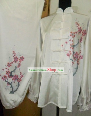 Traditional Chinese Silk Plum Blossom Tai Chi Clothing