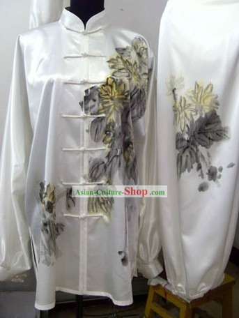Traditional Chinese Silk Original Painting Tai Chi Uniform