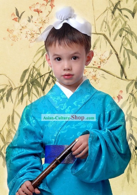 Ancient Chinese Student Costume Complete Set for Kids