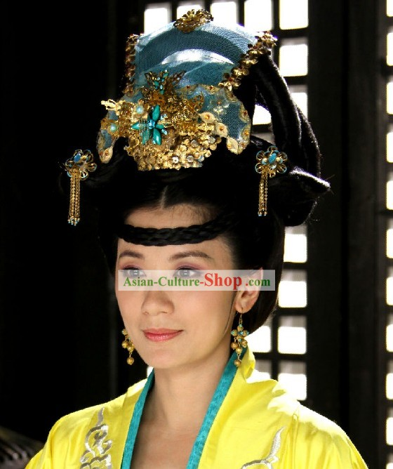 Ancient Chinese Empress Wig and Headpiece Set