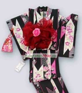 Japanese Kimono Female Dress Complete Set